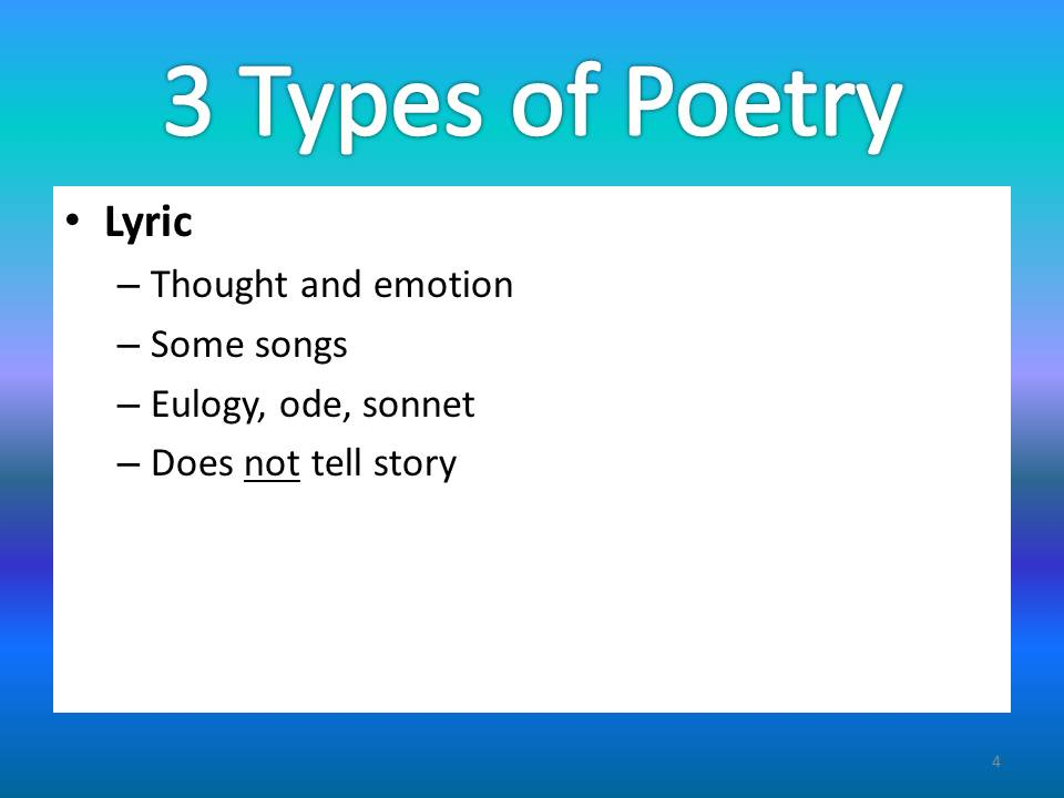 different types of poems and how to write them